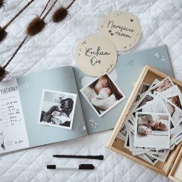 """Album na zdjęcia dla dziecka """"Moja historia"""" Beż"""