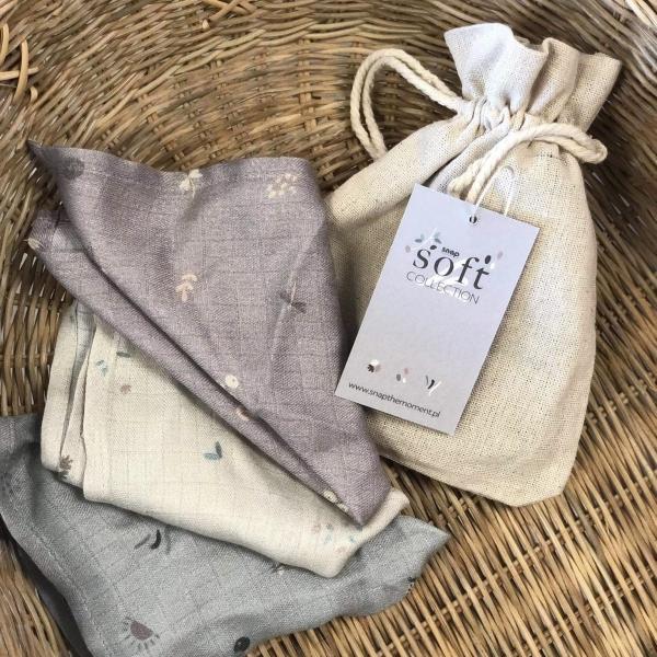3-pack pieluszek muślinowych SOFT