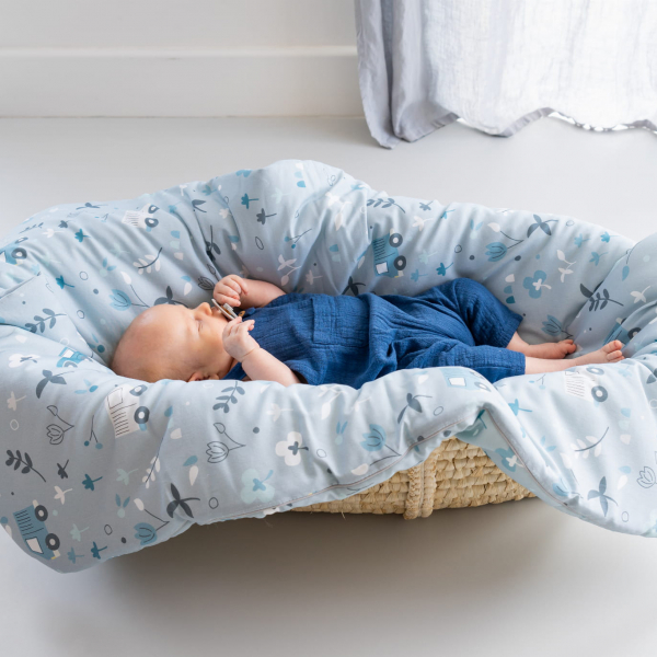 Indigo race baby komplet kołderka i poduszka